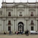 Fachada do Palácio de La Moneda. Infelizmente, dia cinzento!