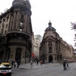 O prédio da bolsa de Santiago