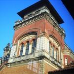 Uma das torres fotografada de dentro do prédio