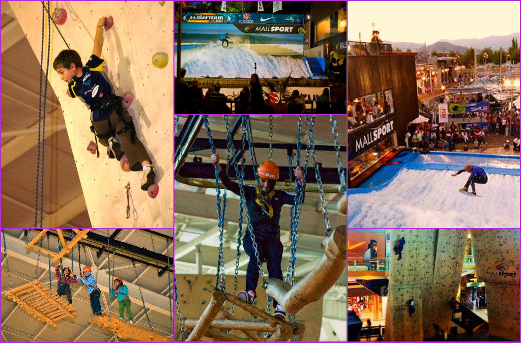 Arvorismo, escalada e onda: não há criança que resista! (Fotos: Mall Sport)