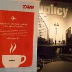 Café expresso ou cappuccino por conta da TAM! rs