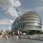 O prédio incrível da Prefeitura de Londres. (Imagem: GoogleStreet)